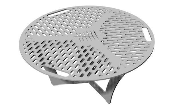 A warmer accessory that can be placed in the center of a gather grill combo