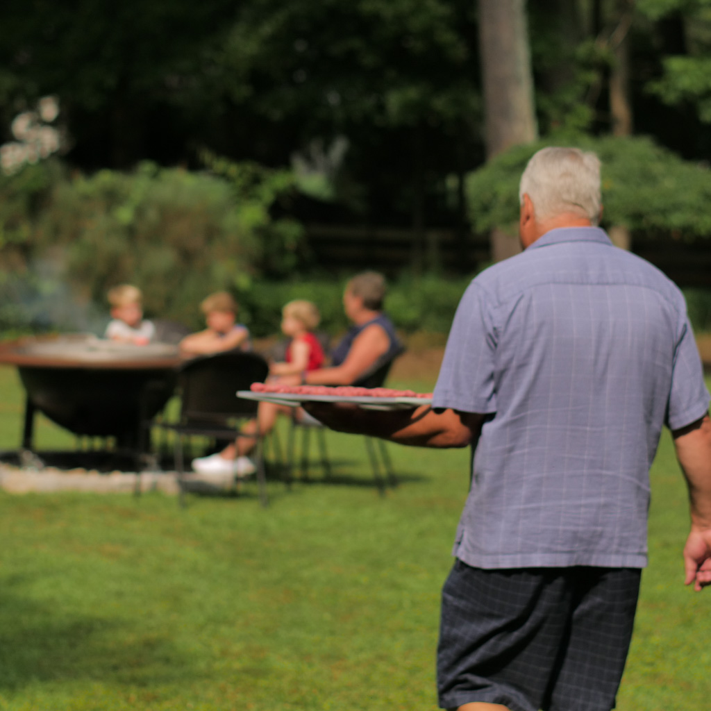 Gather the Family around the Fire Pit Grill
