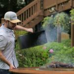 Smoke Brisket Over Fire Pit